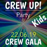 Werbebild für die Gala-Party von CREW für Kinder am 22.6.19