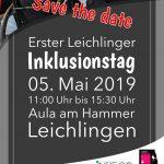 Der Flyer des ersten Leichlinger Inklusionstags am 5. Mai 2019