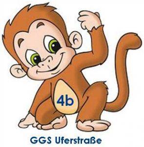 Logo der Affenklasse GGS-Uferstraße