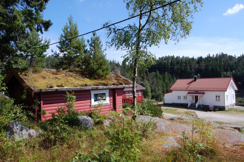 Häuser am Waldrand