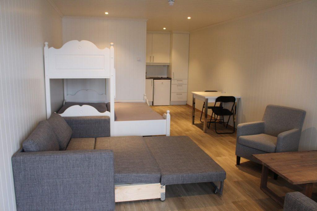 Appartement mit Hochbett und Schlafcouch