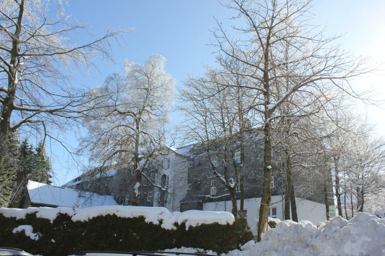 Hostel winter backside