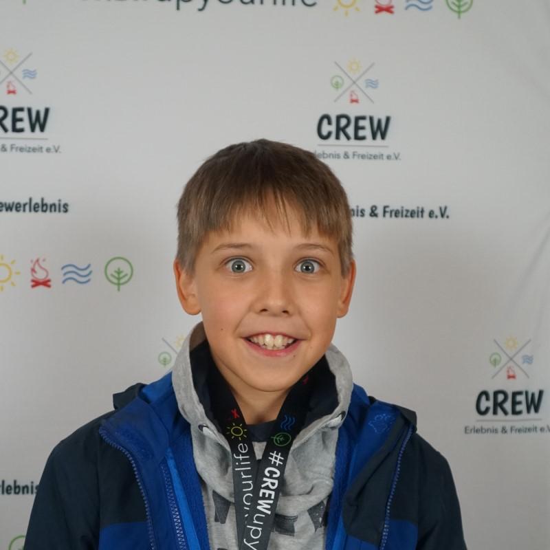 Das Portrait eines Jungen.